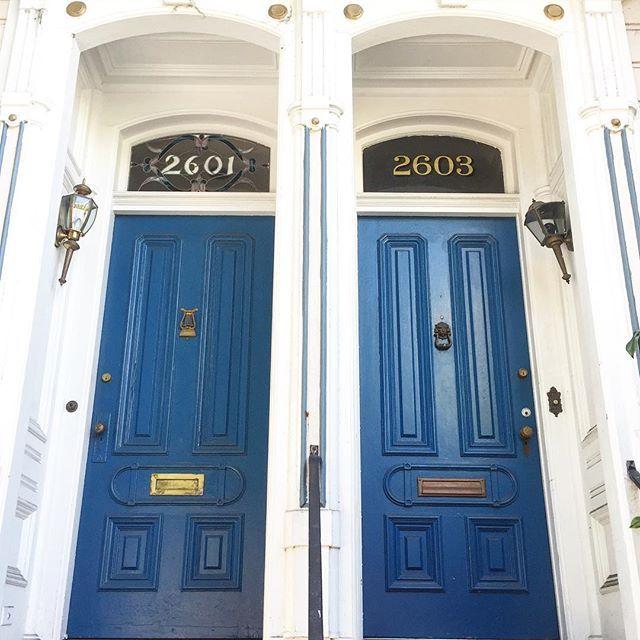 Blue San Francisco door steps