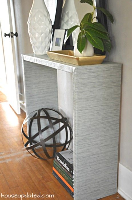 Attrayant $25 DIY Fabric Wrapped Console Table (Parsons Style)