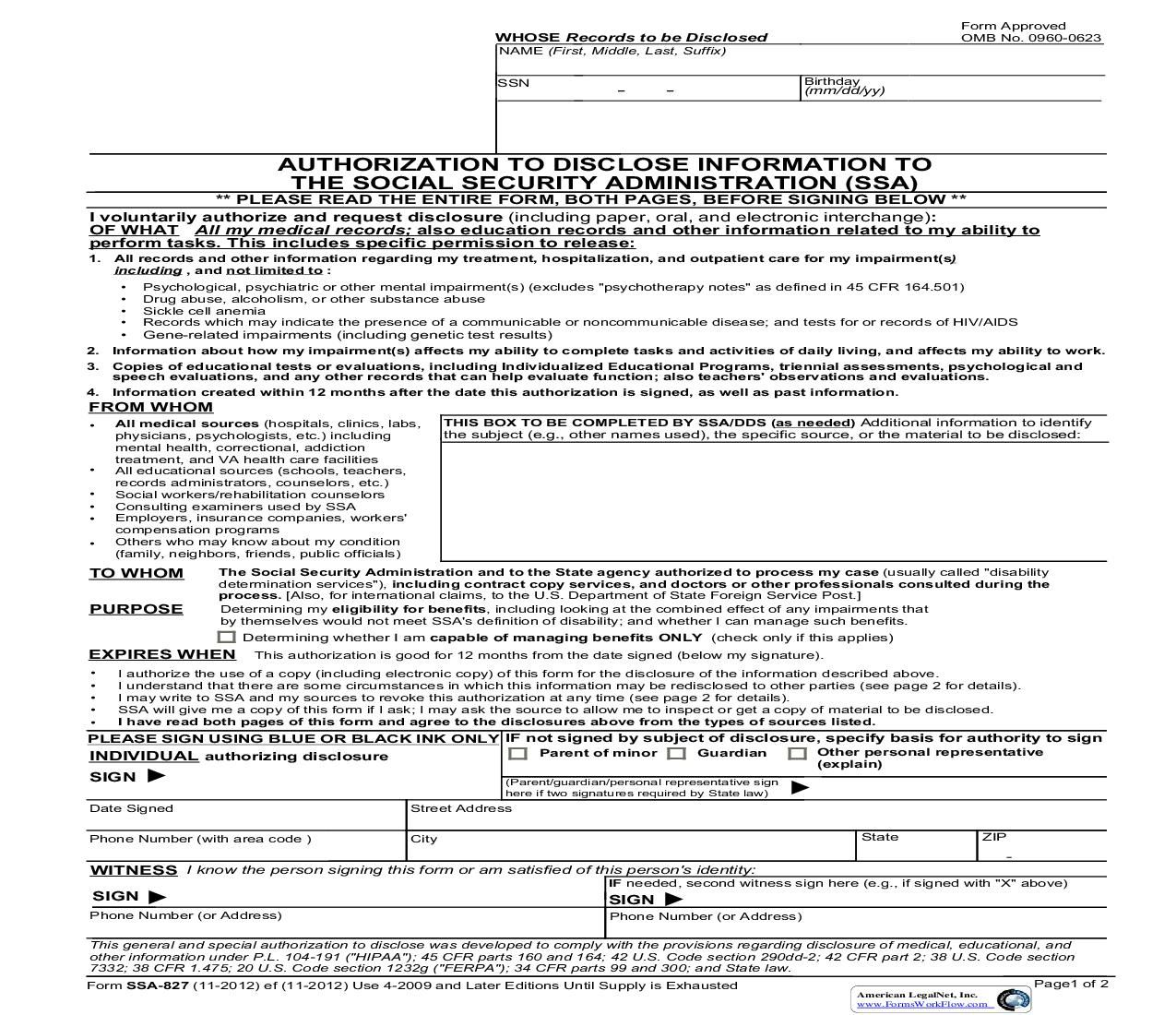 This Is A Official Federal Forms Form That Can Be Used For