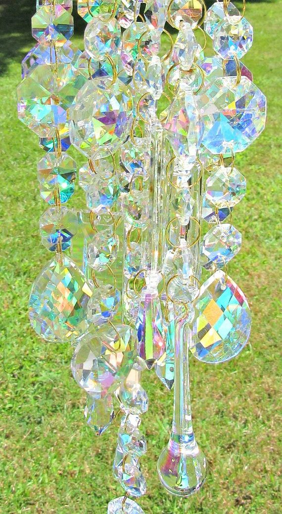 October Birthday Gift AB Crystal Wind Chime For Her