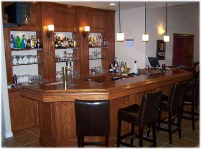 Home Bars and Pub Designs, do it yourself bar construction plans and ...