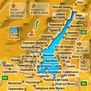 Lago Di Garda Cartina Fisica.Lago Di Garda Mappa Lago Di Garda Lago Mappe