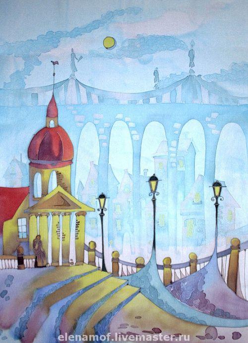 холодный город рисунок