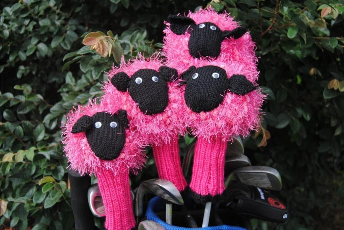 Sheep Golf Club Cover | Golf club covers, Knitting patterns and Patterns
