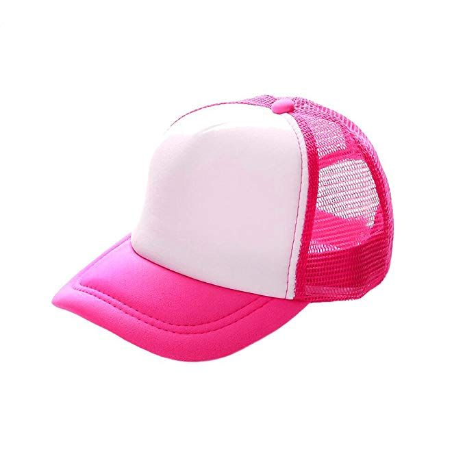 Opromo Kids Bright Neon Mesh Trucker Hat Adjustable Snapback Safety Cap  Review 7f7c05407b0d