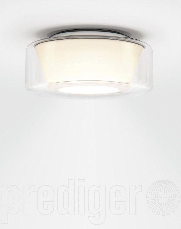 Serien Lighting Curling Ceiling Medium Klar/Opal konisch LED ...