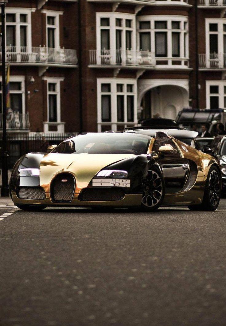 Bugatti Veyron Gold #bugattichirongold | Bugatti cars ...