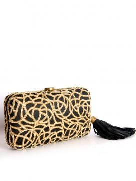 Buy Online Fabulous black clutch from Love To Bag - 2014