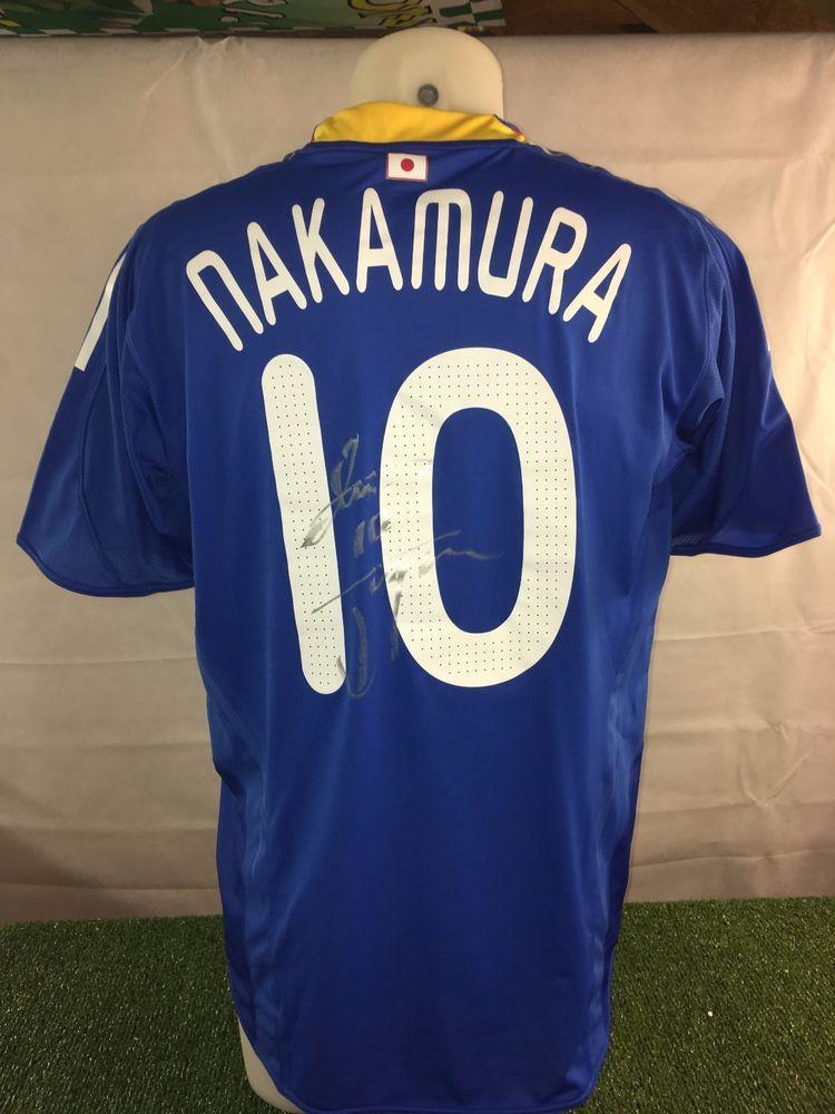 timeless design 39c4d 8cb68 Shunsuke Nakamura Match Worn Japan Signed Shirt v Paraguay ...