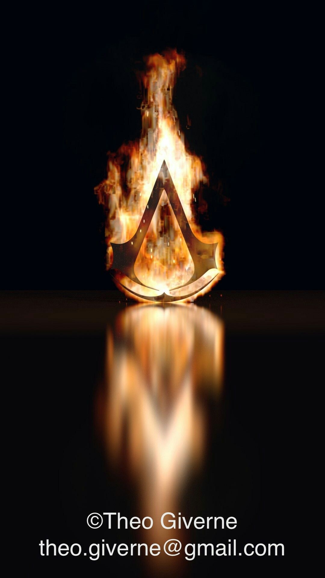 Assassin's Creed logo in fire ©Théo Giverne/théthon