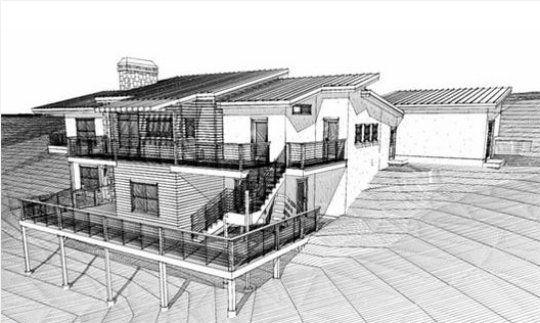 Contra fachada casa moderna home sweet home pinterest for Casa minimalista a desnivel