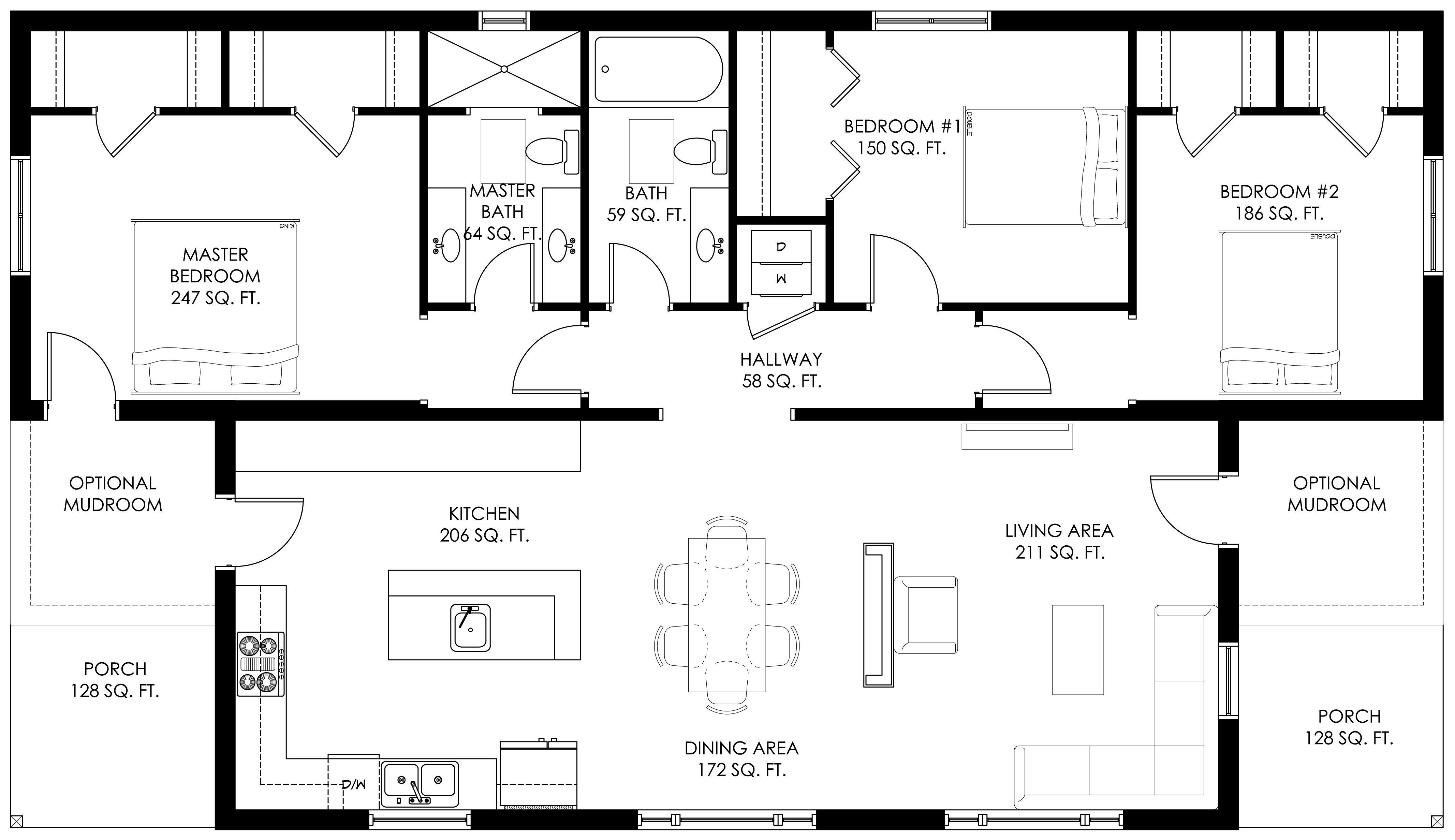 Modern Prefabricated Homes Net Zero Homes Ridgeline Deltec Homes Craftsman Bungalow House Plans Passive Solar Homes House Plans