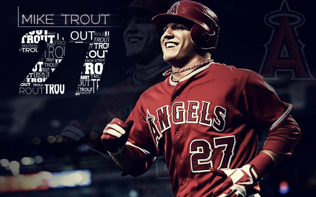 Trout Wallpaper Iphone Mike Trout Wallpaper Los Angeles Angels Los Angeles