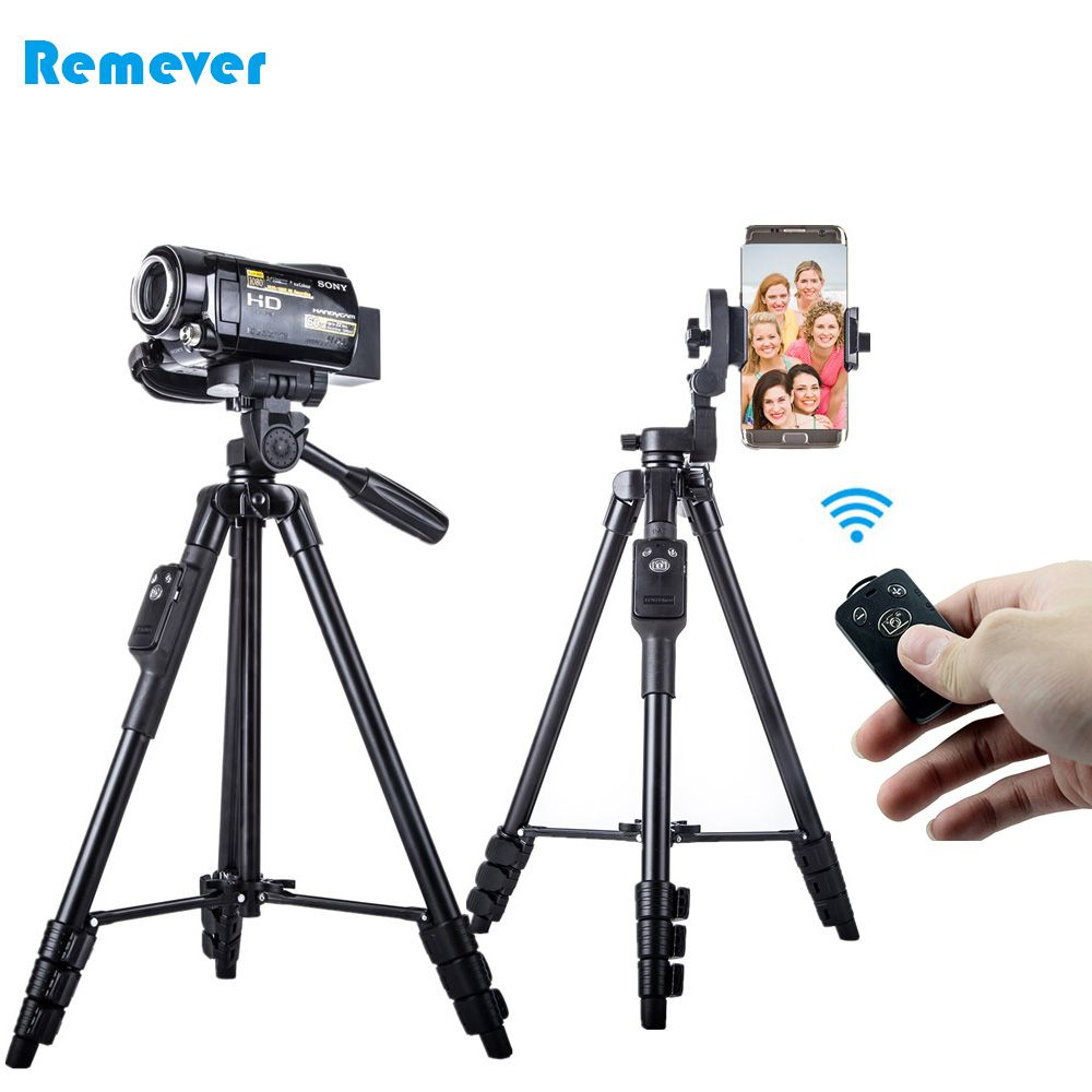 New Tripod with Phone Holder+Bluetooth Remote for Iphone Android