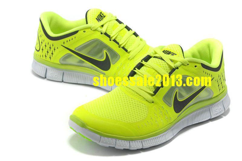744da159dbe Nike Free Run 3 Womens Size 9 Neon Green Black Nike Free Run 2014 Running  Shoes