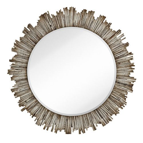 Found It At Wayfair Large Round Beveled Accent Mirror With White Washed Wood Frame Mirror Wall Mirror Wall Bedroom Modern Mirror Wall