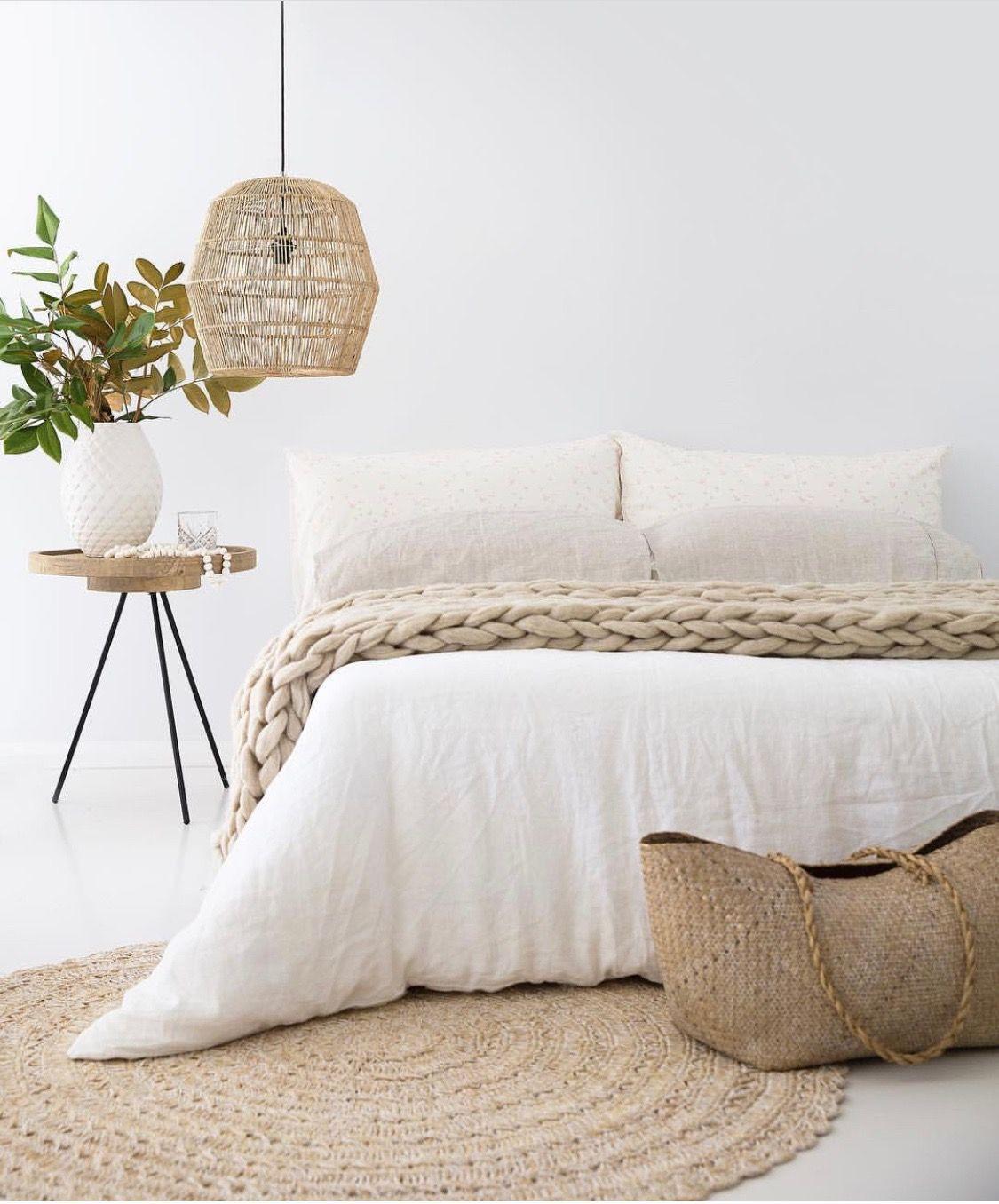 Chambre chaleureuse dans un esprit cocooning, bois clair et ...
