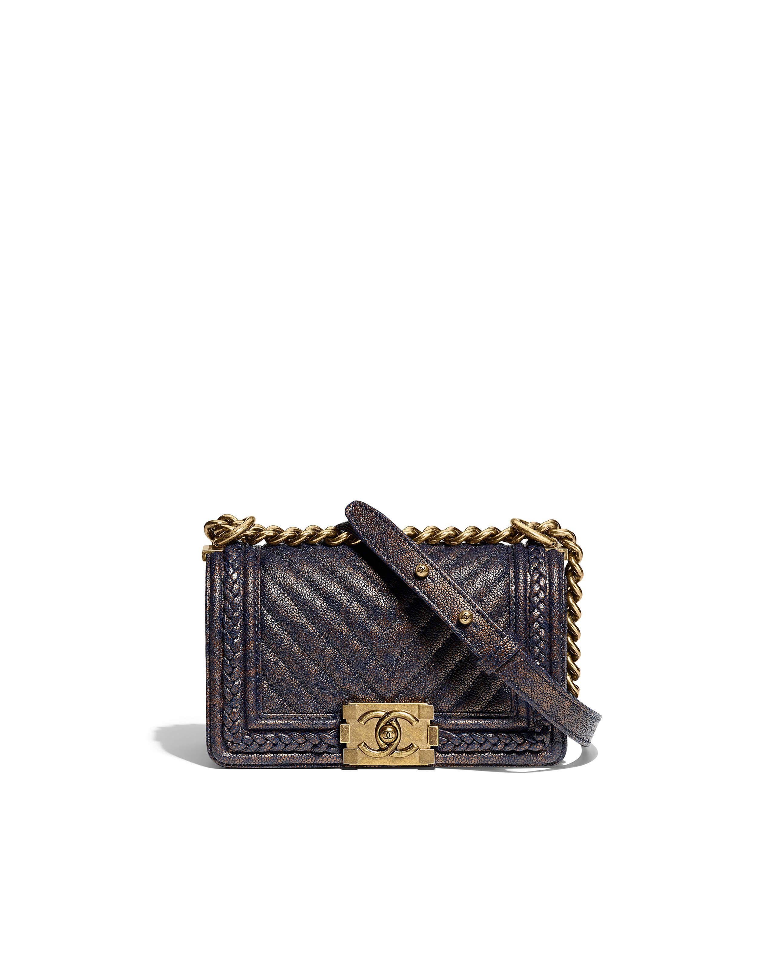 d87f4d0b619bbf $2800 Flap bag, grained calfskin & gold-tone metal-black - CHANEL | Must  Have | Fashion handbags, Chanel fashion, Chanel bags 2017