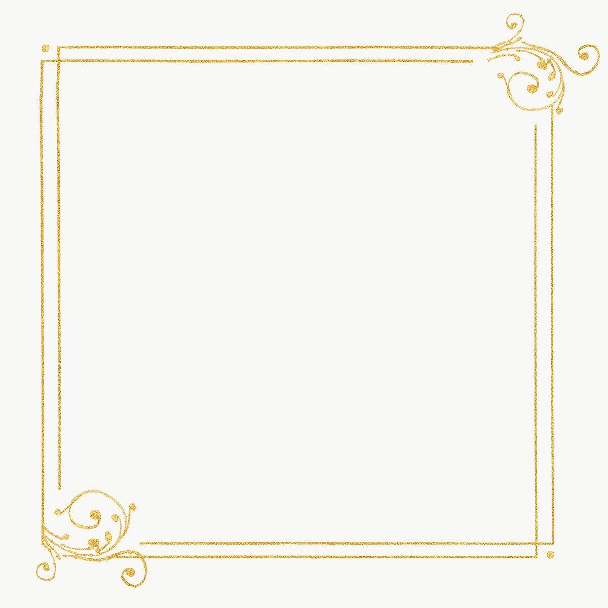 Gold Filigree Frame Border Png Free Image By Rawpixel Com Hwangmangjoo Victorian Frame Antique Artwork Frame