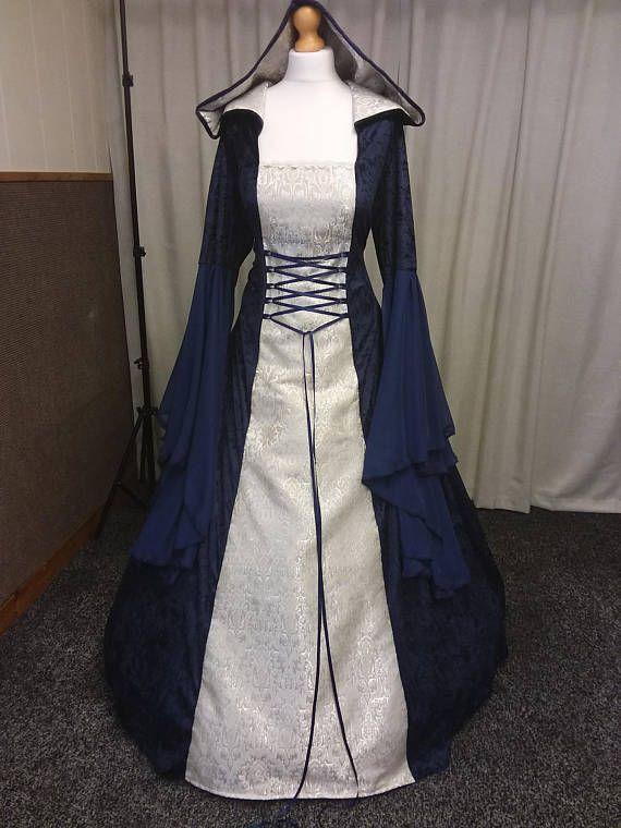 Más tamaños Renacimiento vestido vestido de boda celta   vestidos de ...