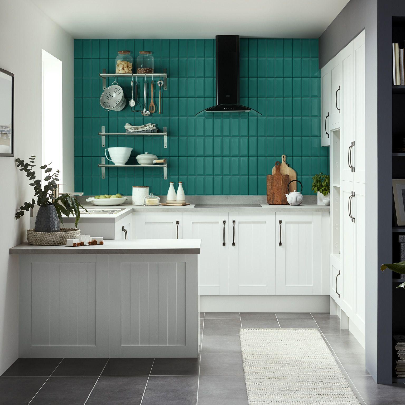 Glazura Trentie Goodhome 10 X 20 Cm Dark Green 0 8 M2 Ceramic Wall Tiles Wall Tiles Diy Grout