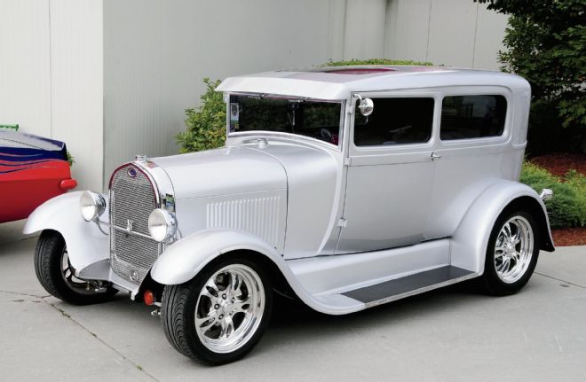 1929 Ford Full Fendered Silver Metalic Body