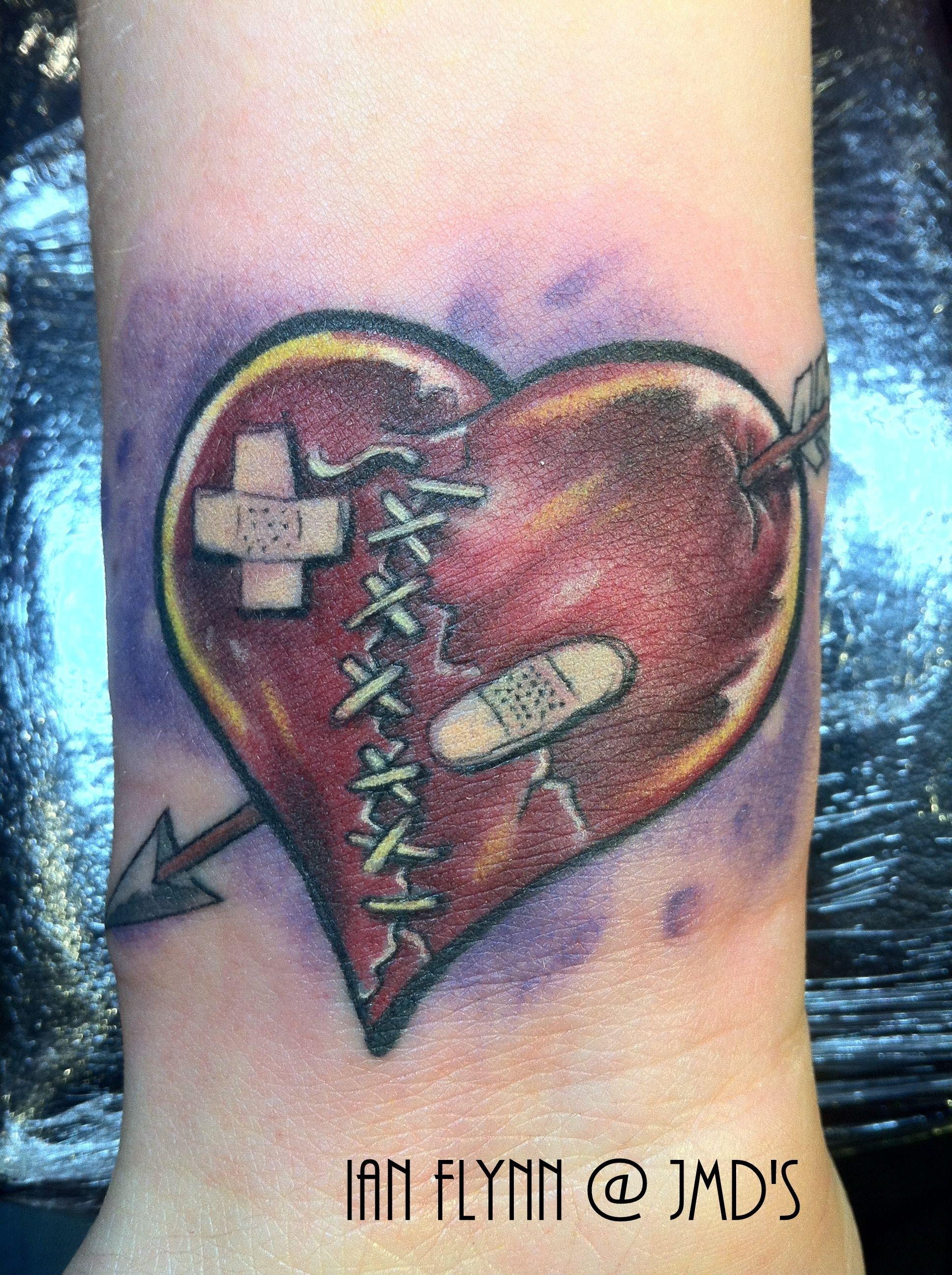 Broken Heart Tattoo By Ian Flynn Ink Broken Heart Tattoo