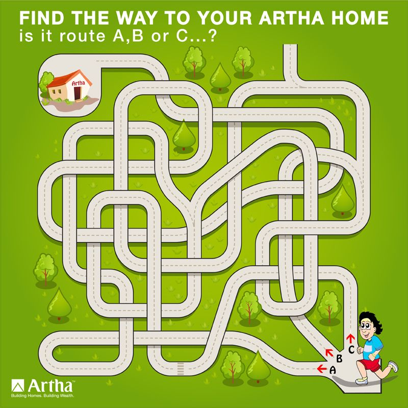 Time for Some Fun! Find your way home. Choose from one of