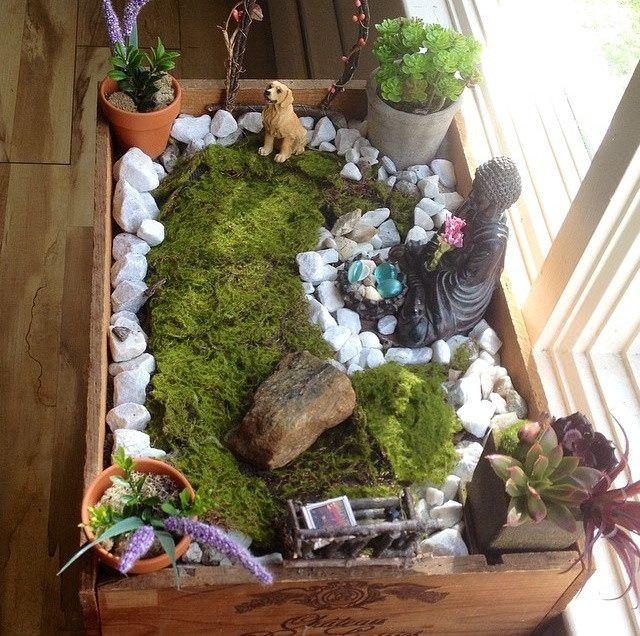 How to make a small indoor zen garden the secret gardens - Japanese zen garden indoor ...