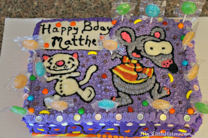 Toopy And Binoo Cake My 3 Little Kittens Cake Cake Decorating Tips Little Kittens