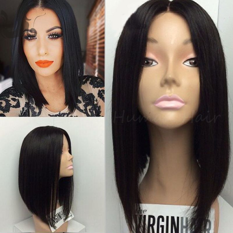 Find More Blended Hair Wigs Information about 2016 Top Quality 4*4'' Silk Top Full Lace Bob Wig Short Bob Wigs For Black Women Middle Part Glueless Silk Base Lace Front Wigs,High Quality wig wig,China wig hairnet Suppliers, Cheap wig case from TopBeauty Human Hair Co.,LTD on Aliexpress.com