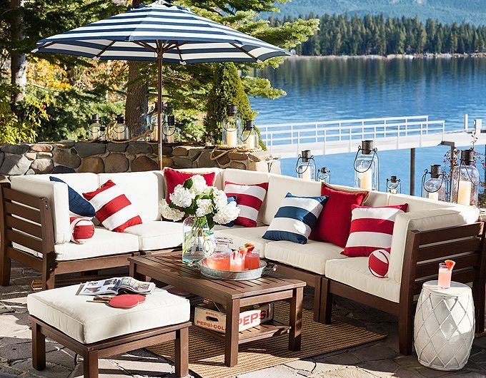 Decorate Outdoor With Bright Bold Stripes Of Red White And Blue