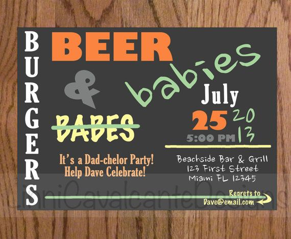 Beer And Diapers: 17 Man Shower Invitations