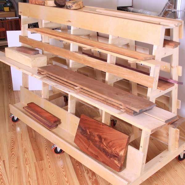 Lumber Sheet Goods Storage Rack Paper Plan With Images Lumber Storage Rack Lumber Storage Lumber Rack