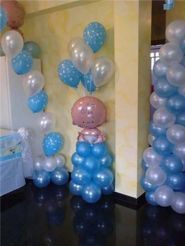 Globos Bautizo Nino Regalos De Baby Shower Baby Shower De Color Rosa Boy Baby Shower Ideas