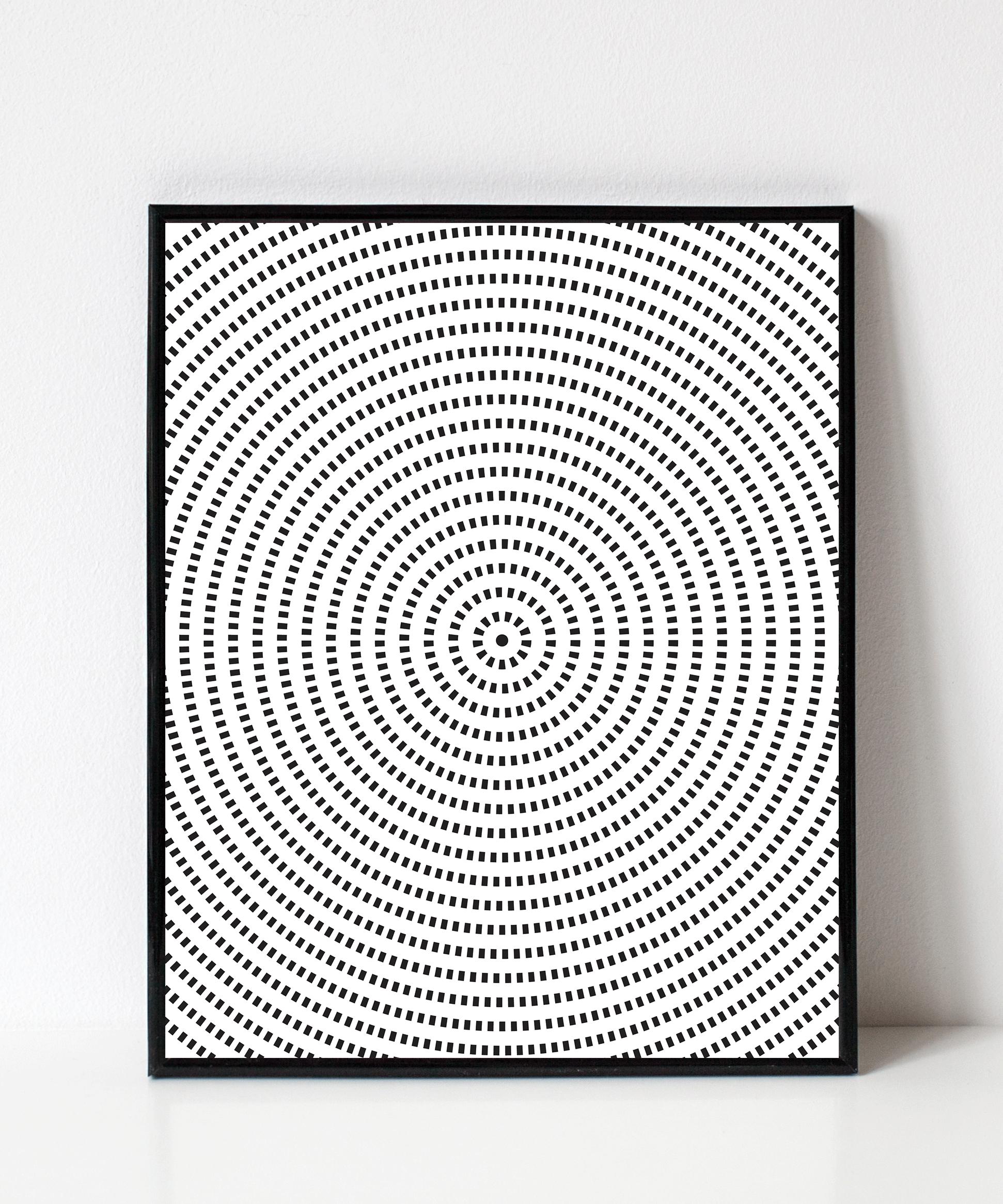 Geometric Spiral Wall Art