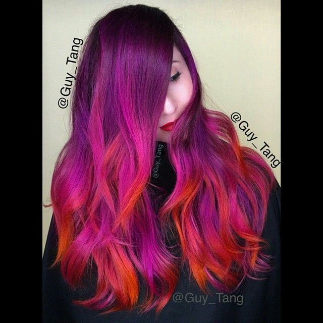 Guy Tang Hair Artist Semi Color On My Client Process With Heat 20 Mins And Rinse Cool Water