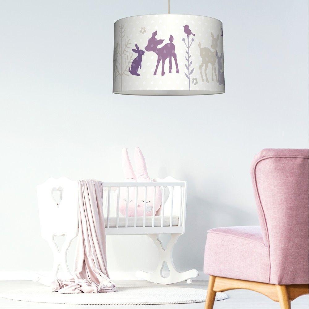 Lovely Label Hangelampe Haschen Und Rehe In Lila Babyzimmer Und Kinderzimmer In 2021 Kinder Zimmer Lila Madchenzimmer Lampe Kinderzimmer