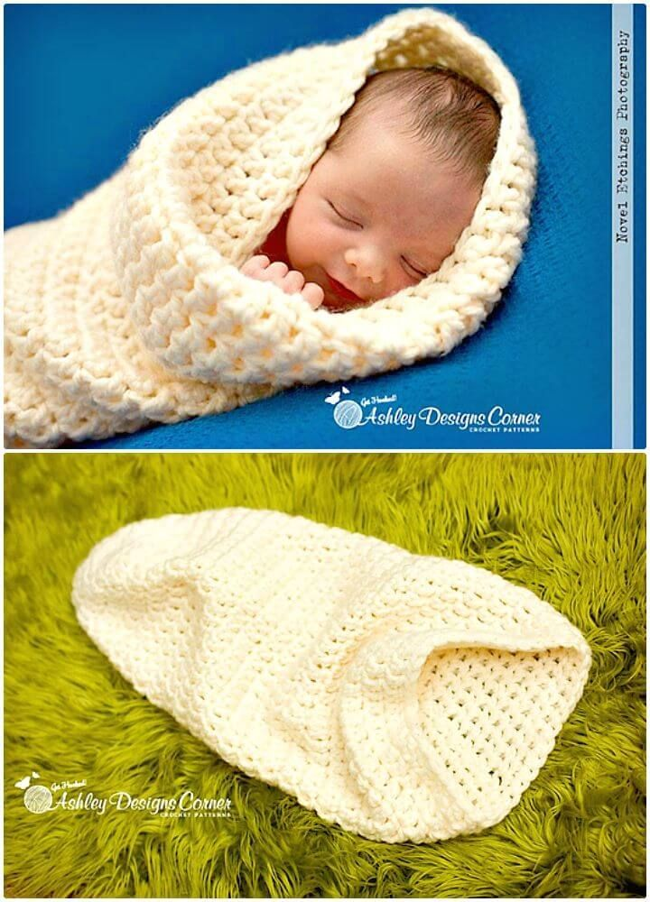 33 Free Crochet Baby Cocoon Patterns #crochetbabycocoon