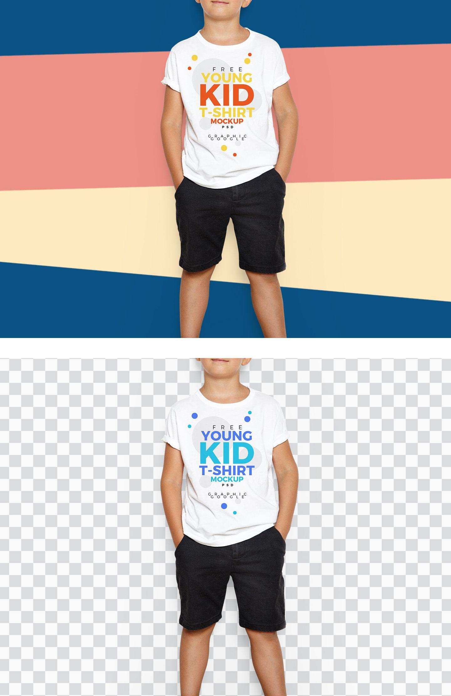 Download Free Kid T Shirt Psd Mockup