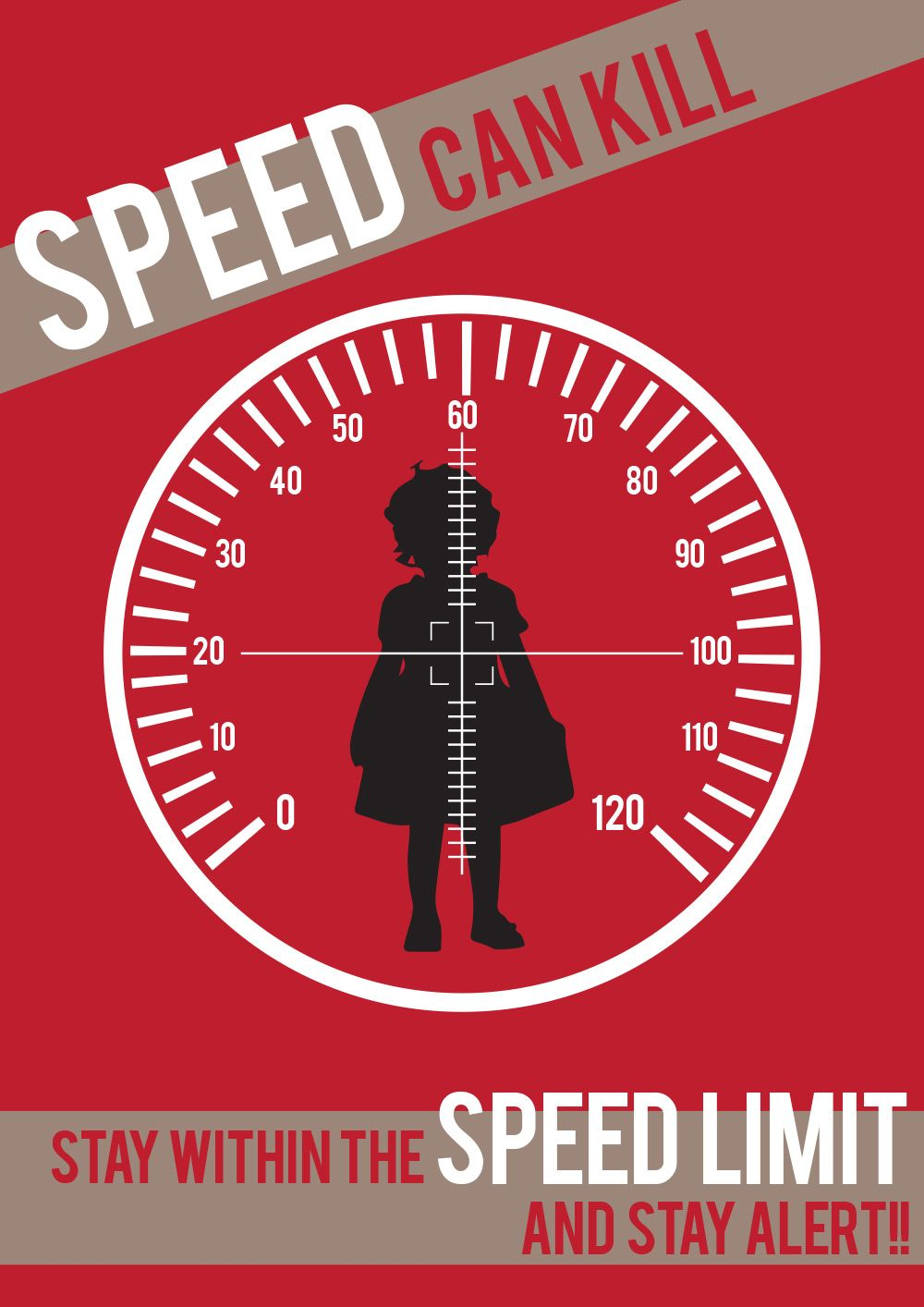 Check your speed. Road safety poster, Safety posters
