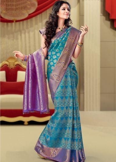 c697066e46fbb0 Best place for Women's Apparel Collections, Shree Devi Textile. Peacock Blue  ...