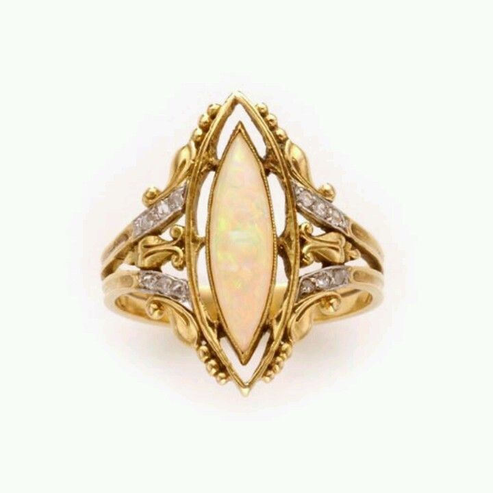 Yellow Gold,Oparl Ring