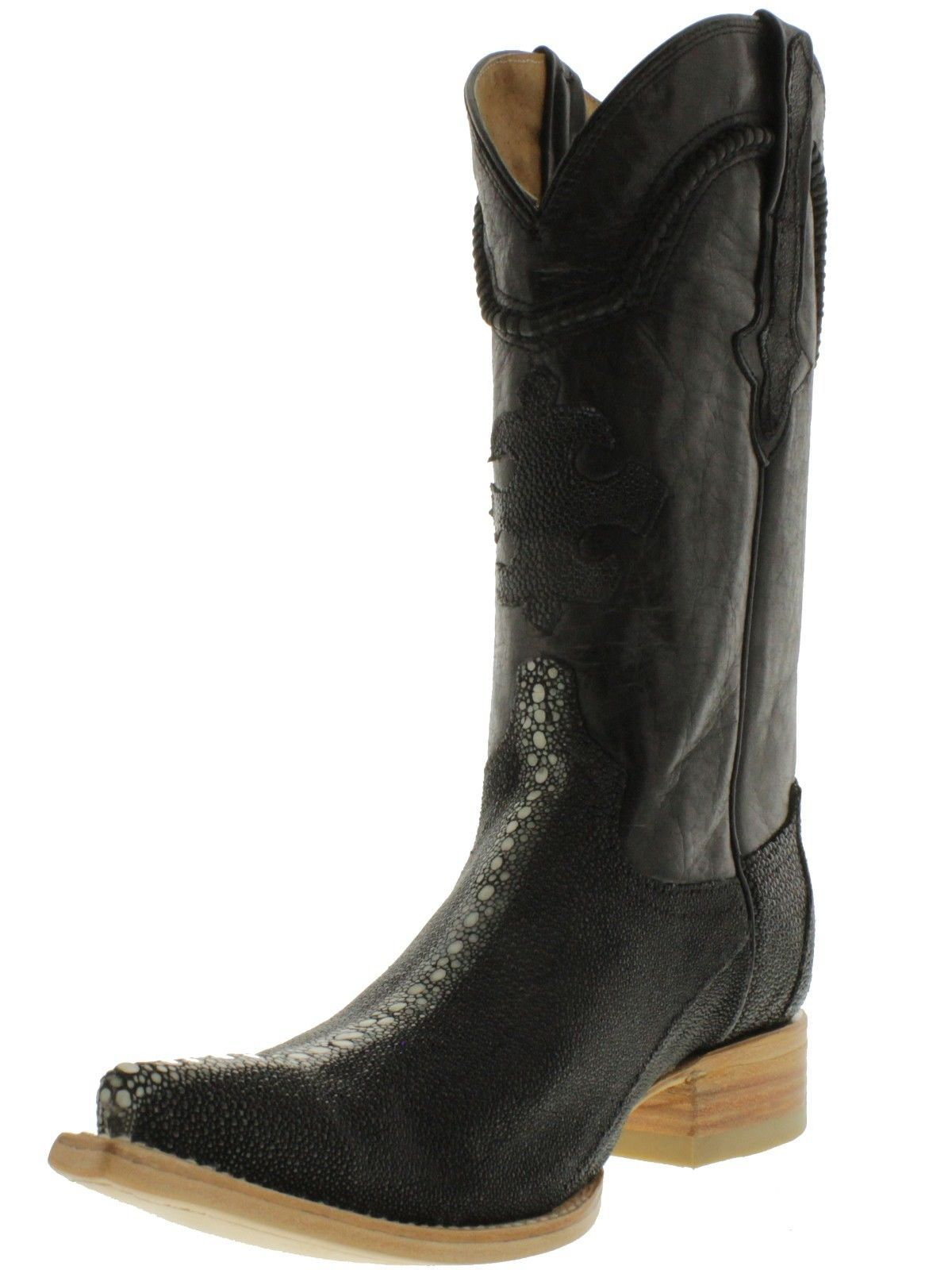 White Diamonds Men's J Toe Genuine Stingray Cowboy Western Boots ...