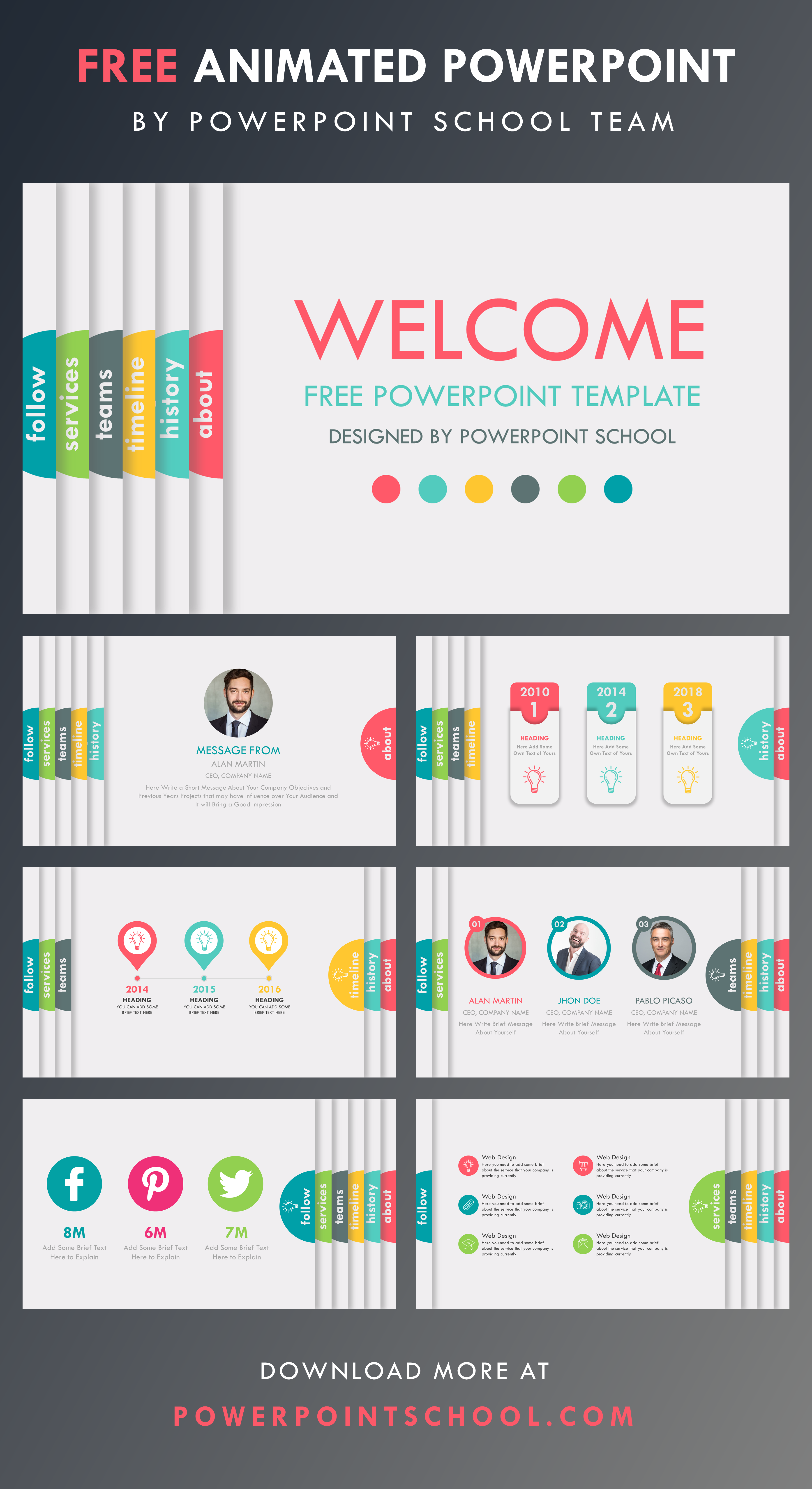 Free Powerpoint Template Free Powerpoint Presentations Powerpoint Tutorial School Powerpoint Templates