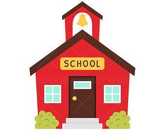 schoolhouse school house clip art free clipartfox drink up rh pinterest com free clipart house house clipart image