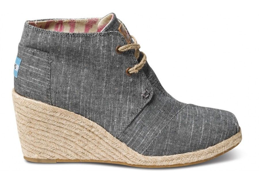 I really like these TOMS. I am not a huge fan of the heeled ones, but these may change my mind. Perfect casual heel.