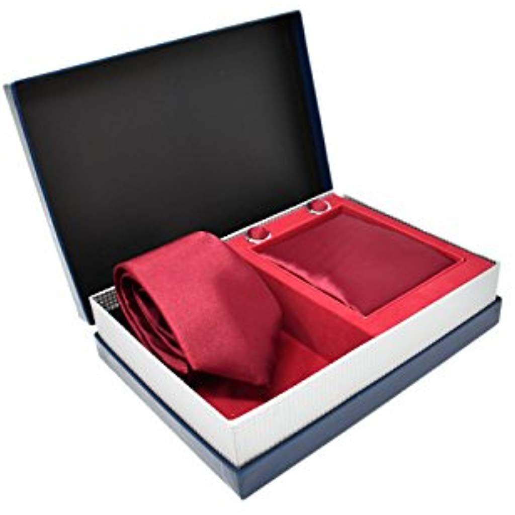 50% de réduction choisir le plus récent large sélection Coffret Ensemble Cravate Homme Mouchoir de Poche Boutons de ...
