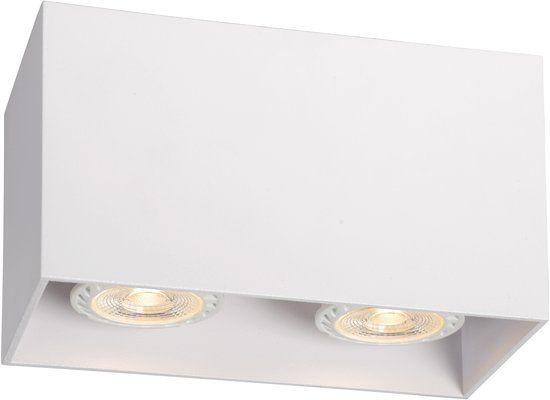 Lucide Bodi Plafondspot 2xgu10 Wit Plafondlamp Licht Led
