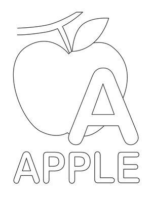 Printable Coloring Pages Preschool Coloring Pages Apple Coloring Pages Alphabet Coloring Pages